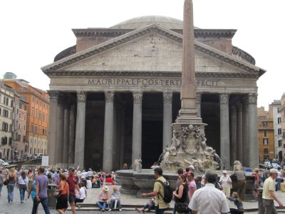 Outside of the Pantheon
