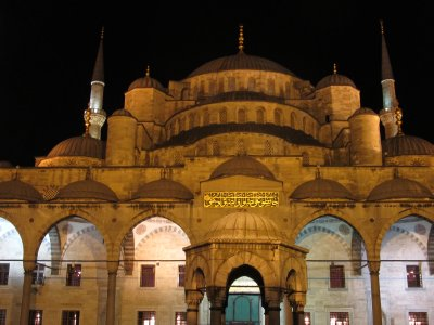 Up close of the blue mosque