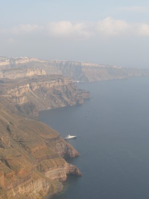 Valcano cliffs on Santorini