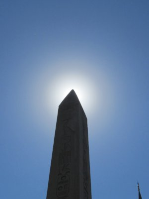 Very top of the Egyptian obelisk