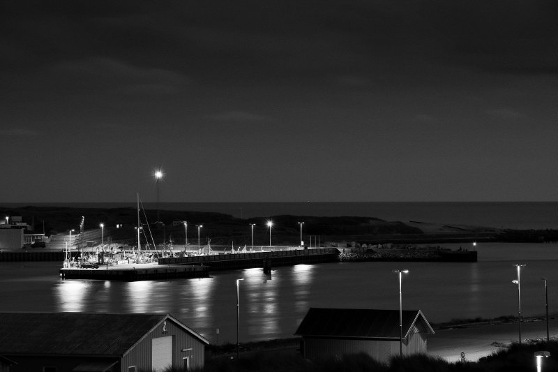 Hvide Sande habour @ night
