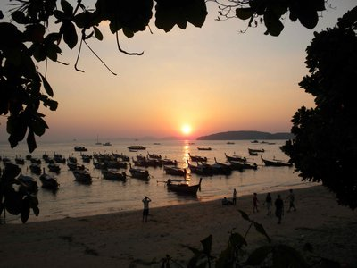 Sunset on Ao Nang Beach