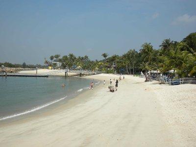 The safe beaches of Sentosa Island