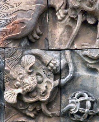 Temple wall, Taipei