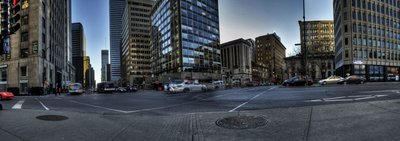 Panoramic view of a boulevard in Montreal