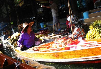 From Clothes to Hats to Fruits and Veggies found in Damnoen Saduak Floating Market