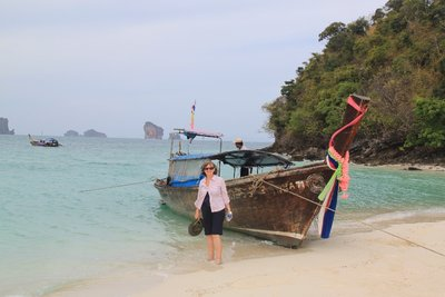 Our long tail boat tour of local islands