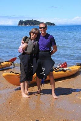 Kayaking at Abel Tasman NP