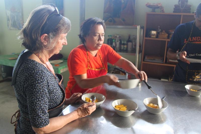 Christine learns the art of Thai cuisine
