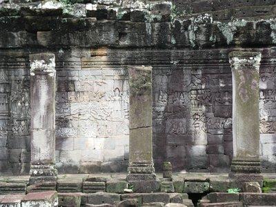 Galerie au temple de Bayon