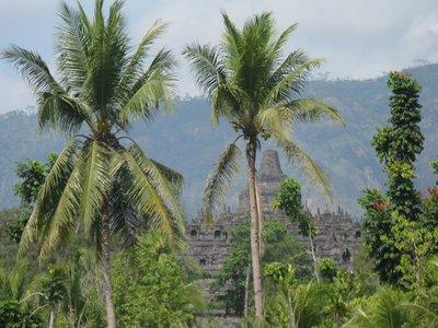 Vue sur Borobudur