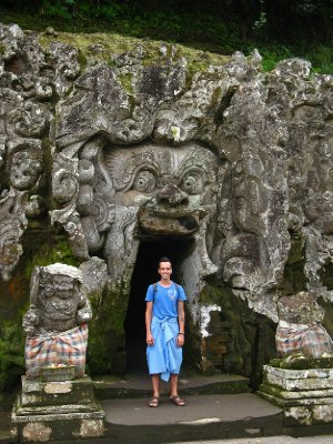 Entree dans la grotte de Goa Gajah