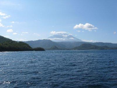 Depart pour Lombok : vue sur Gunung Agung