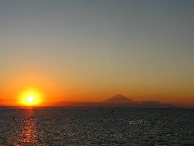 Coucher de soleil sur Bali et Gunung Agung