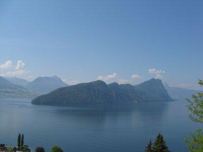 Vue sur le lac des 4 cantons