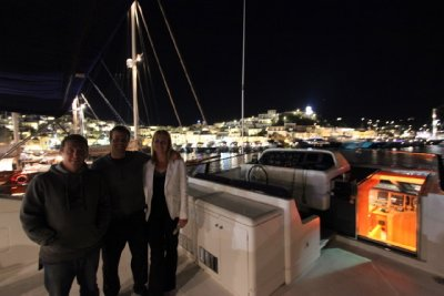 On Board with Dio - the owner of Variety Cruises having a drink