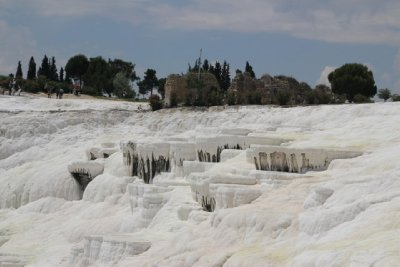 Pamukkale, Calcium Deposit Falls - or Look what the Milkman Left over the last few thousand years.
