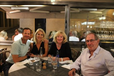 Us with Linda and Bill at Ste Maxime Restaurant