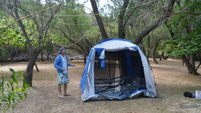 A Man Always Colour Codes to His Tent
