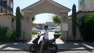 Biking around Port Grimaud, South of France