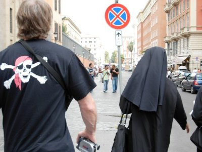 Following the Nun, Rome...