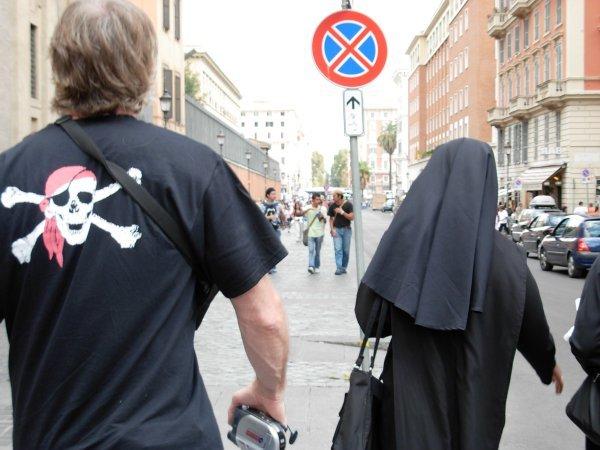 Following the Nun, Rome...