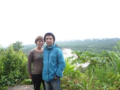 me and Don looking over the tributary of Madre de Dios