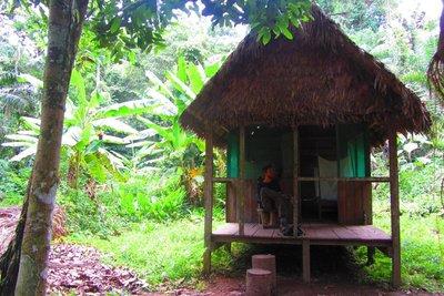 Onze slaapplaats in de jungle