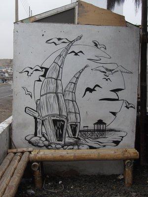 De typische boten in Huanchaco