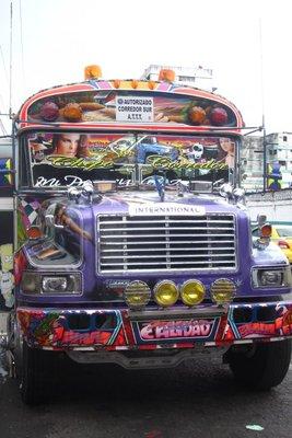De bussen in Panama!