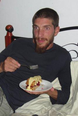 Lekkere taart van Shawn!