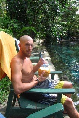 Kokosnoot met rum! Heerlijk!