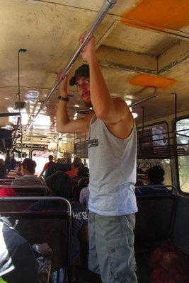 De typische bussen in Nicaragua.