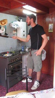 Lekkere pannenkoeken in ons eigen huisje