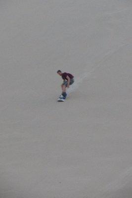 Thijs aan het snowboarden!