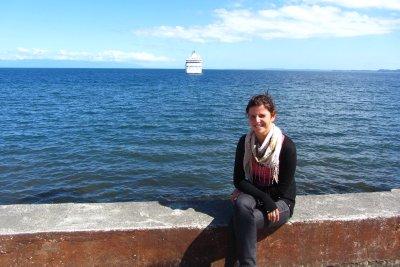 Puerto Montt, wachten op de boot.