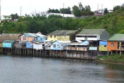 De hoofdstad van Isla de Chiloé