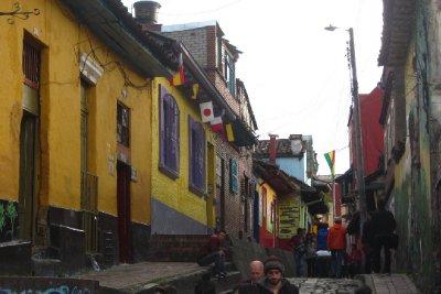 Gezellige straatjes in Bogotá