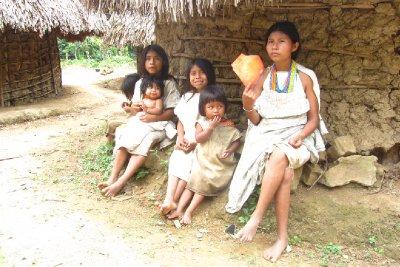 De Kogi-vrouwen en kinderen!