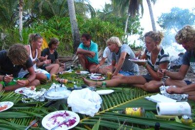 Bbq-en op één van de vele eilandjes!