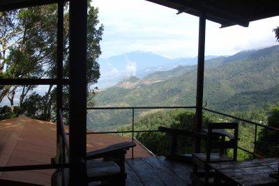 Uitzicht vanuit ons hostel.