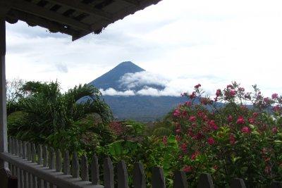 Uitzicht op volcan Concepcion.