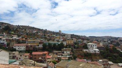 Uitzicht over Valparaiso