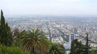 San Cristobal: uitzicht over Santiago