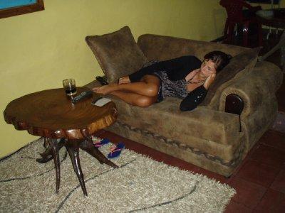 Rustig televisie loenken in ons hostel.