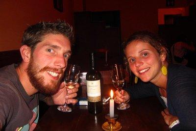 Lekkere wijn hebben ze hier dus ook!