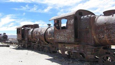 Het treinkerkhof.