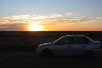 Nog eens de zonsondergang
