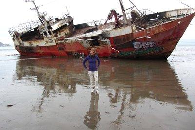 Een gestrande boot