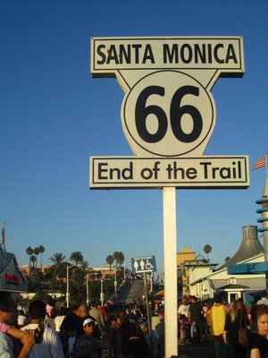 and i just learned that the santa monica pier is the end of route 66.